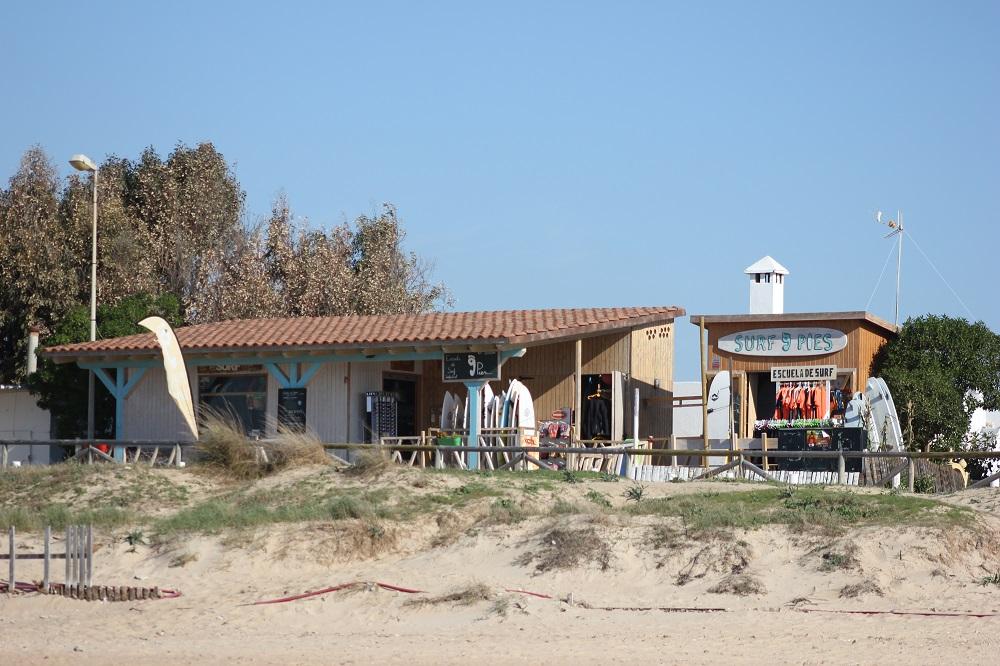 vista de la escuela de surf 9 pies el palmar