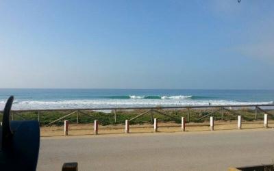 La playa del palmar vista desde la escuela