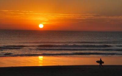 puesta de sol el palmar