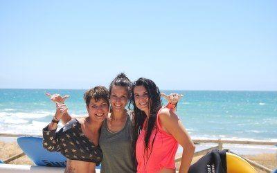 Escuela de surf en El Palmar